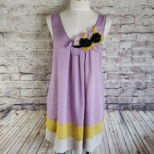 EUC Silk Sleeveless Tunic Size M/L